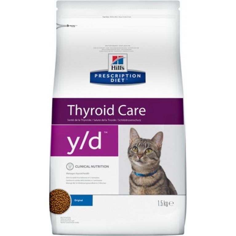 Hill's Prescription Diet Y/D Thyroid Care Сухой диетический, для кошек при заболеваниях щитовидной железы