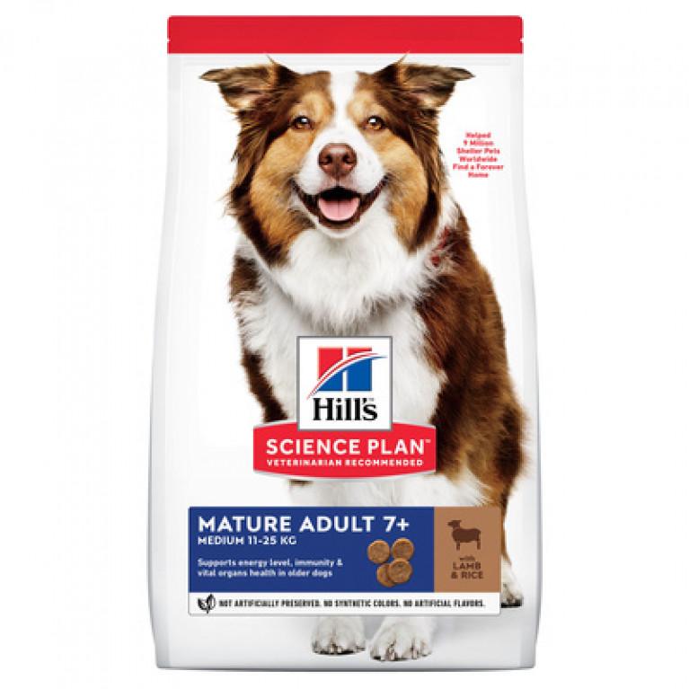 Hill's Science Plan Сухой корм для собак старше 7 лет всех пород (с ягненком и рисом)