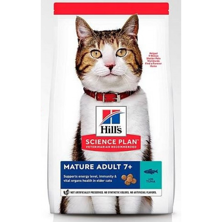 Hill's SP Feline Mature Adult 7+ Сухой корм для кошек старше 7 лет (Тунец)