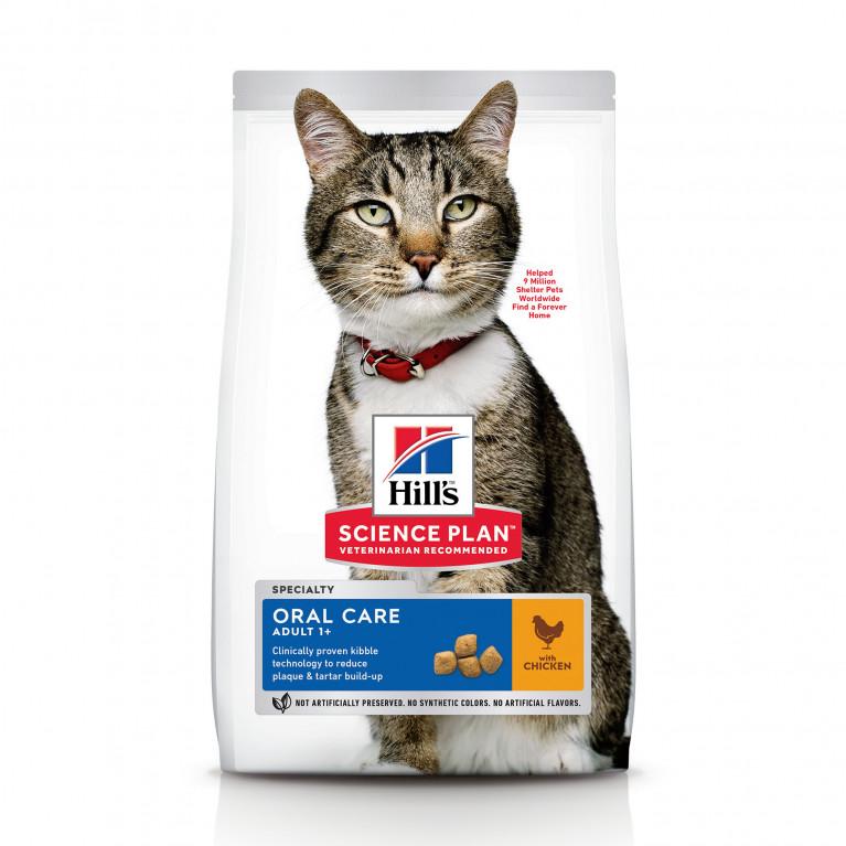Hill's SP Feline Oral Care  Для взрослых кошек для гигиены полости рта