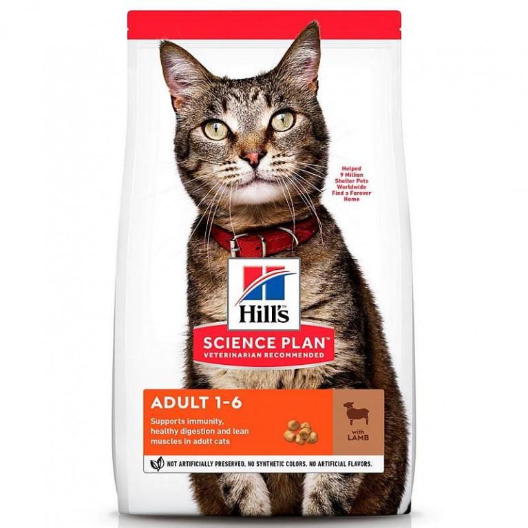 Hill's SP Optimal Care Сухой корм для взрослых кошек с Ягненком