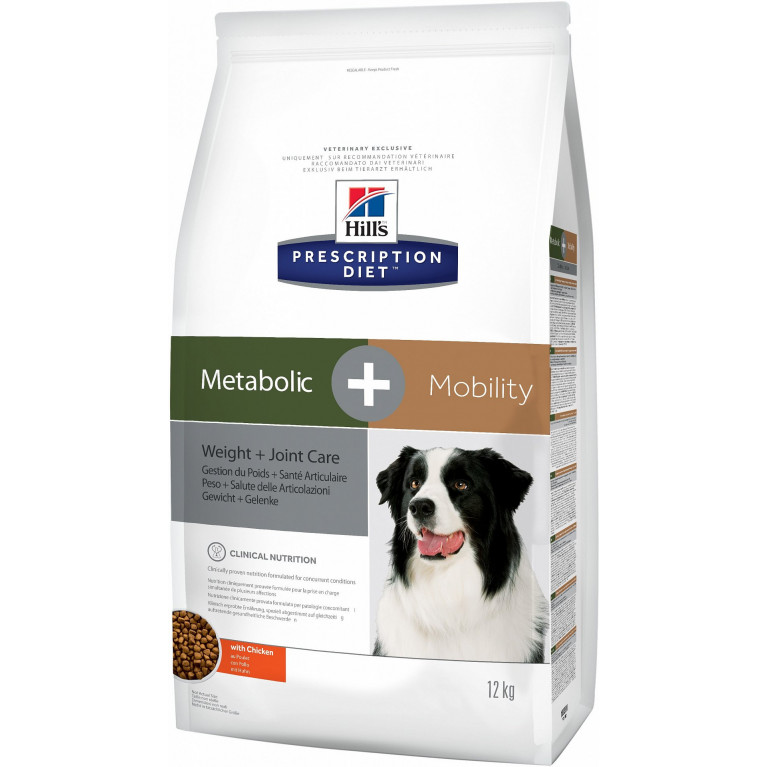 Hill's Prescription Diet Metabolic+Mobility Сухой корм для собак для коррекции веса + суставы 12кг