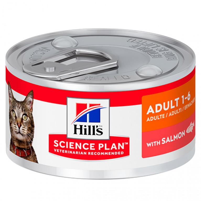 Hill's Science Plan ADULT 1-6 Консервы для кошек (Лосось)