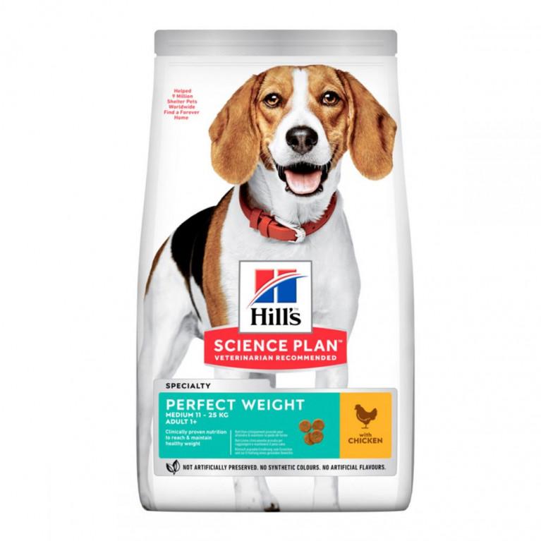 Hill´s Science Plan Plan Perfect Weight Сухой корм для взрослых собак средних пород для поддержания оптимального веса, с курицей
