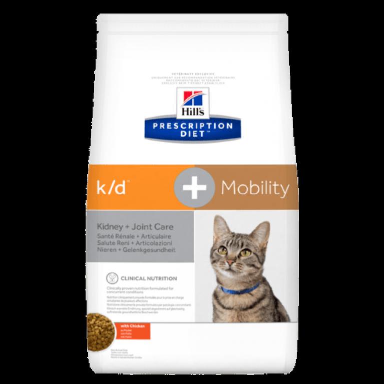 Hill`s PD Feline k/d +Mobility Диетический корм для кошек с заболеваниями почек и суставов