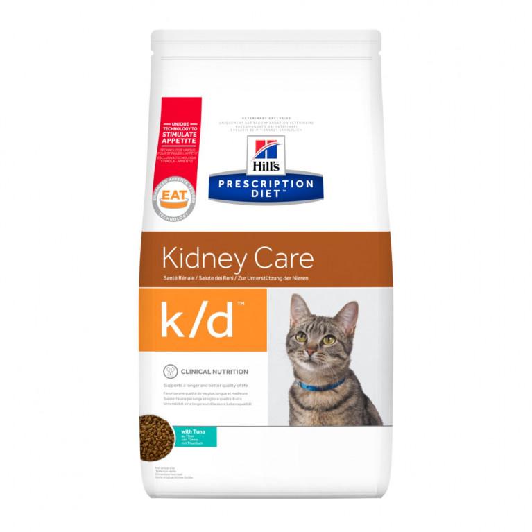 Hill's Prescription Diet k/d Сухой диетический корм для кошек, для поддержания здоровья почек, с Тунцом