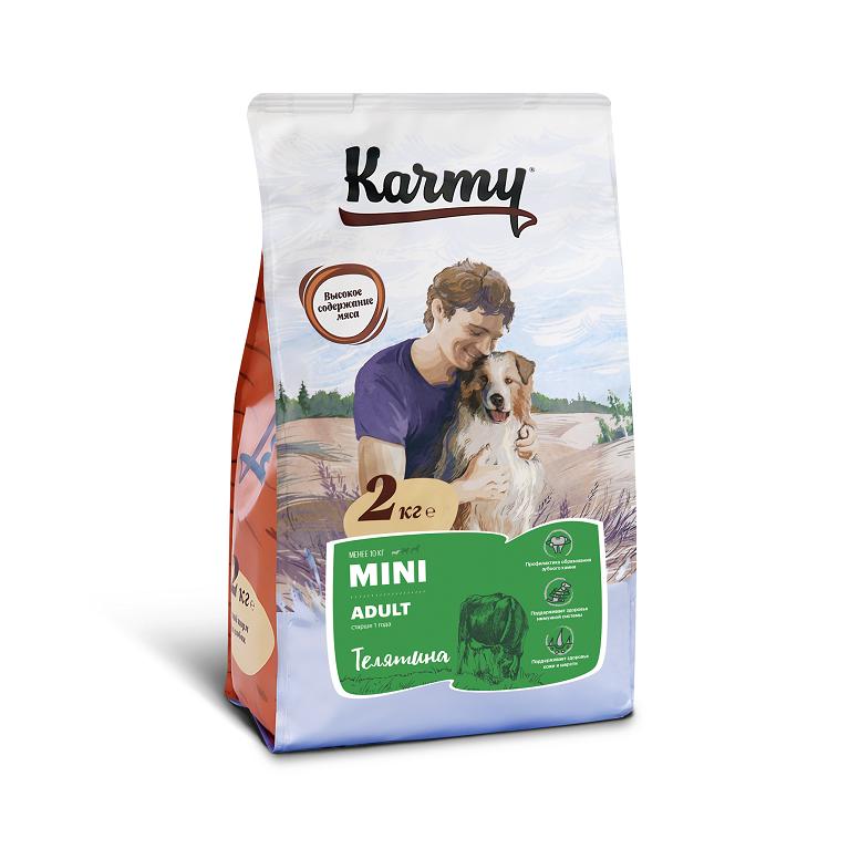 KARMY MINI ADULT корм для взрослых собак мелких пород старше 1 года (Телятина)