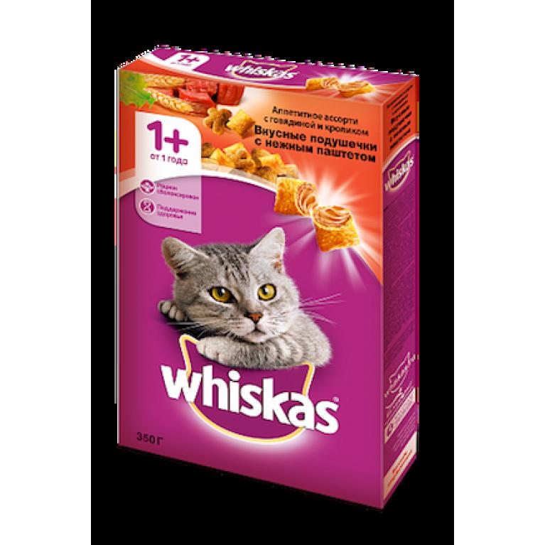 Whiskas  Сухой корм для кошек (с нежным паштетом говядиной и кроликом)