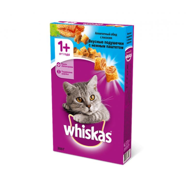 Whiskas  Сухой корм для кошек (с паштетом Лосося)