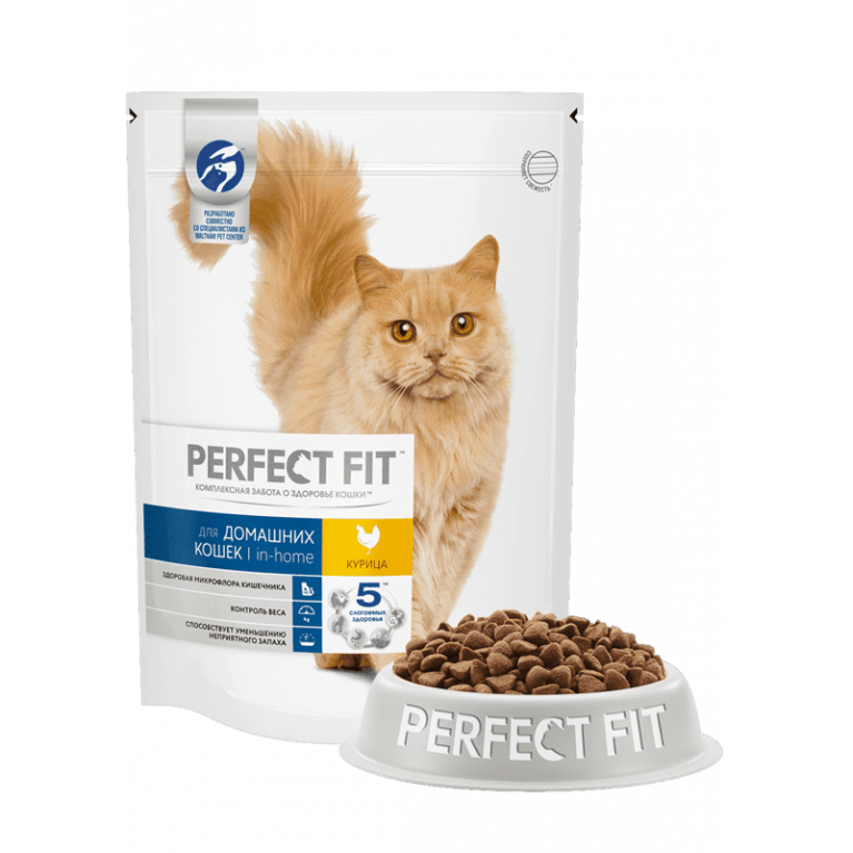 Perfect Fit Indoor Chicken для домашних кошек  (с курицей)