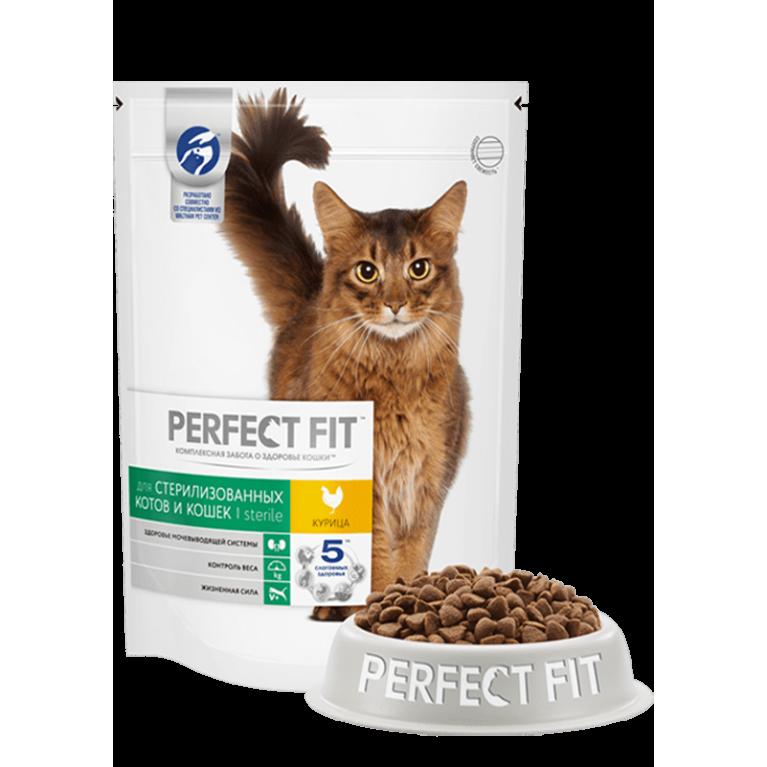 Perfect Fit Sterile Для кастрированных котов и стерилизованных кошек с курицей