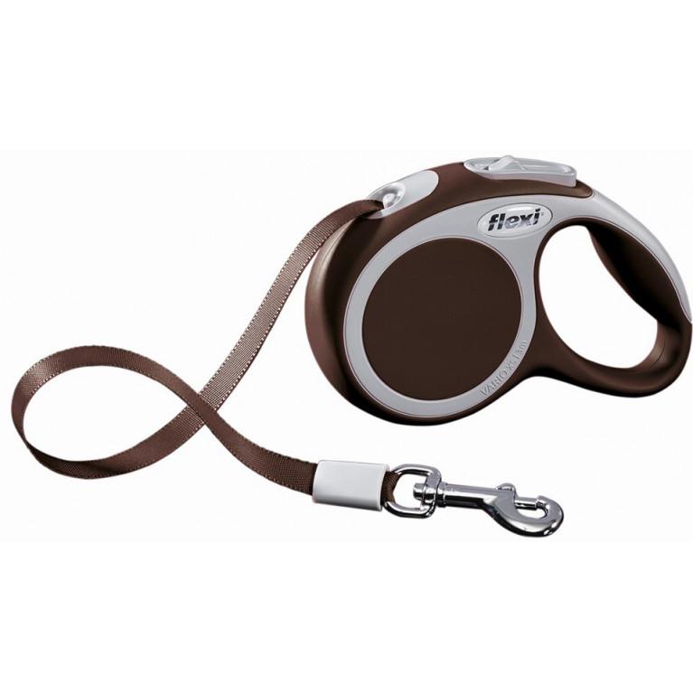 Flexi VARIO (XS)  /Поводок-рулетка ремень для собак (3м/12 кг)