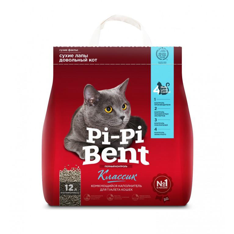 """Pi-Pi-Bent """"Классик"""" Комкующийся наполнитель для кошачьего туалета"""