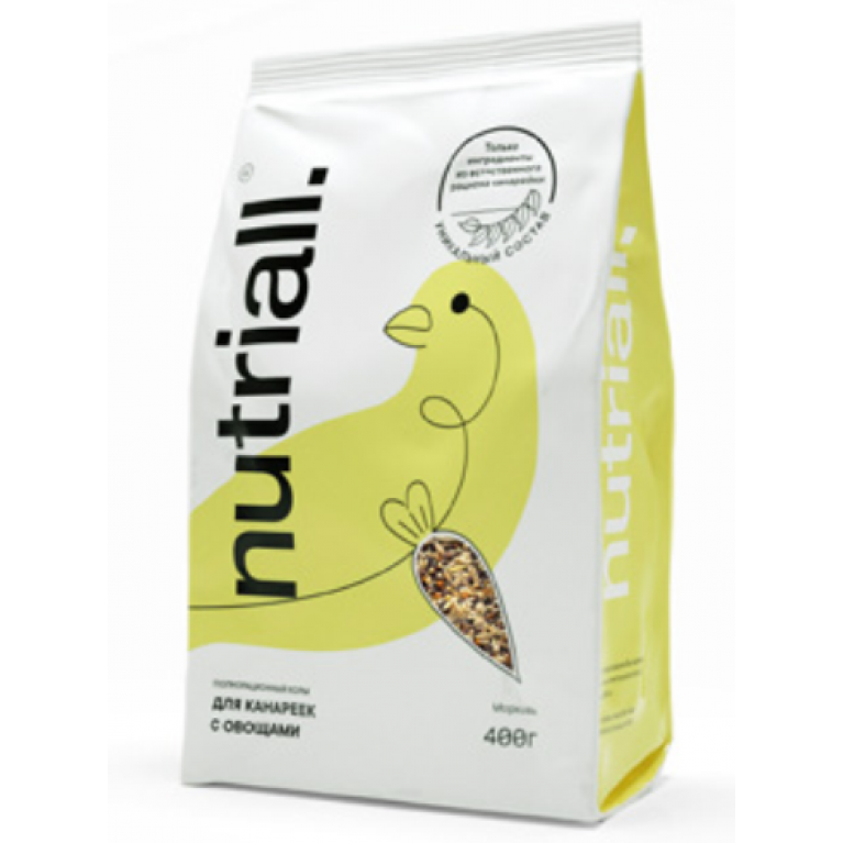 NATURIALL Полнорационный корм для канареек с овощами 400г