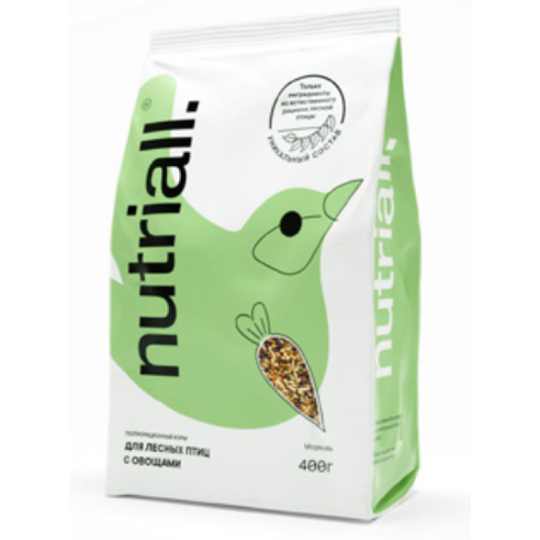 NATURIALL Полнорационный корм для лесных птиц с овощами 400г (уп.18шт)
