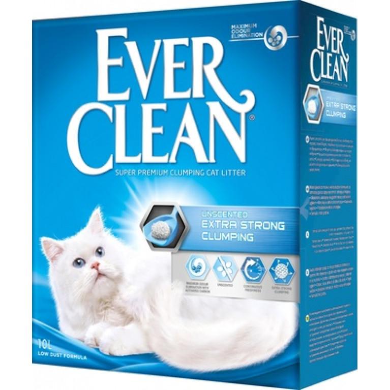 Ever Clean Unscented Extra Strong Clumping Наполнитель комкующийся без ароматизатора 10 л