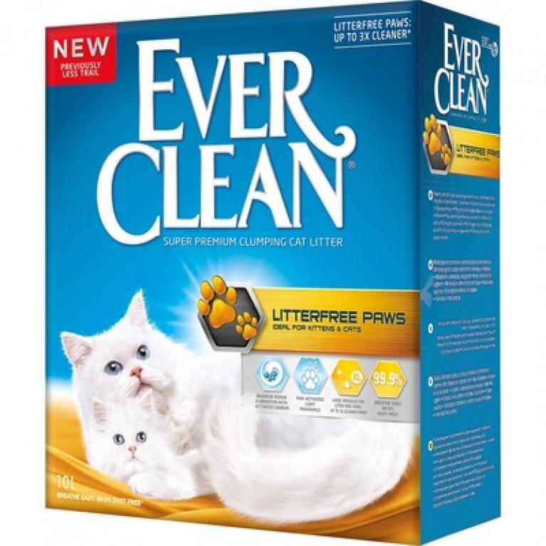 Ever Clean Less Trail  Комкующийся наполнитель для длинношерстных кошек 10 л