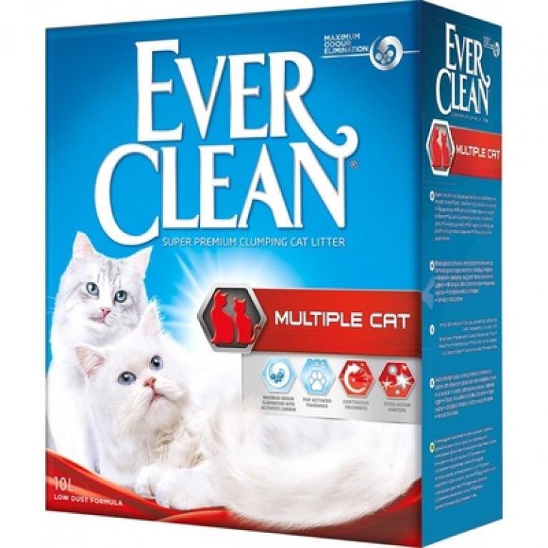 Ever Clean Multiple Cat Наполнитель комкующийся для нескольких кошек с ароматизатором 10 л