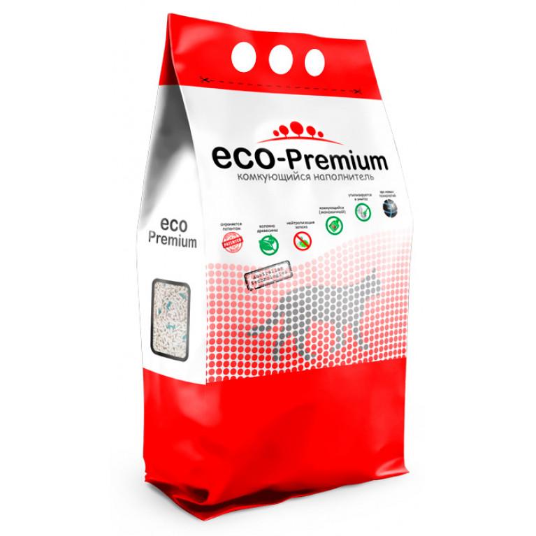ECO Premium BLUE Наполнитель древесный комкующийся