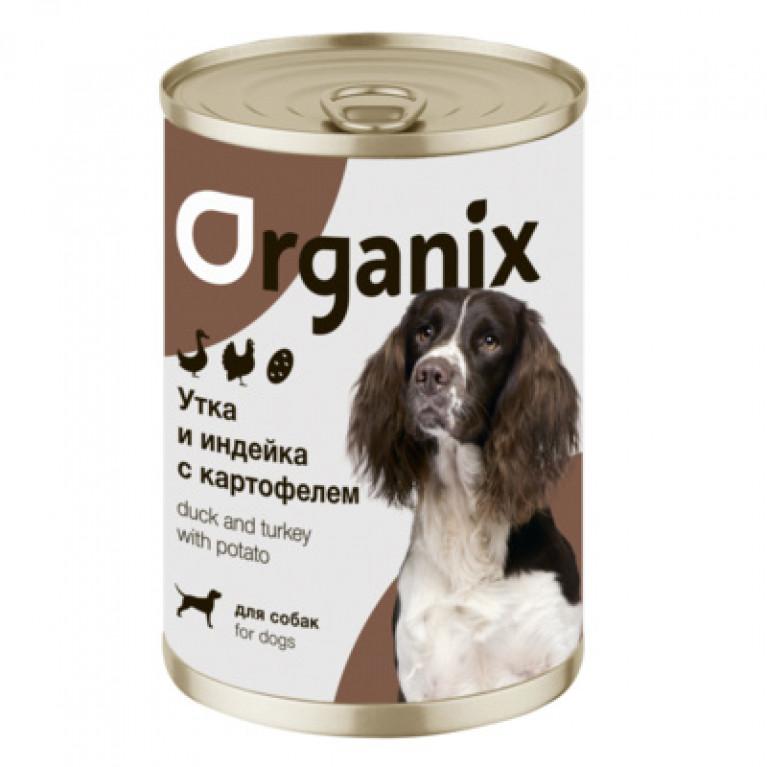 Organix Консервы для собак Утка, индейка, картофель