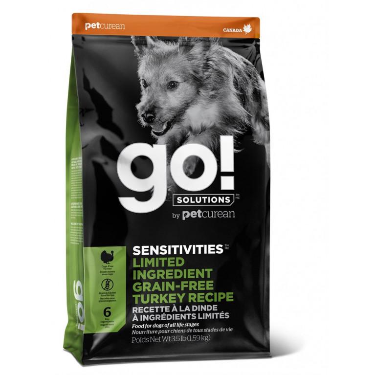GO! Sensitivity + ShineTurkey Беззерновой корм для Щенков и Собак с чувствительным пищеварением с индейкой