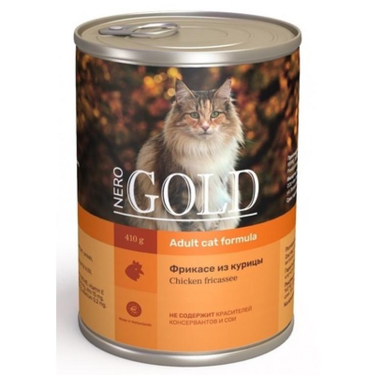 """Nero Gold кусочки в желе консервы для кошек """"Фрикасе из курицы"""""""