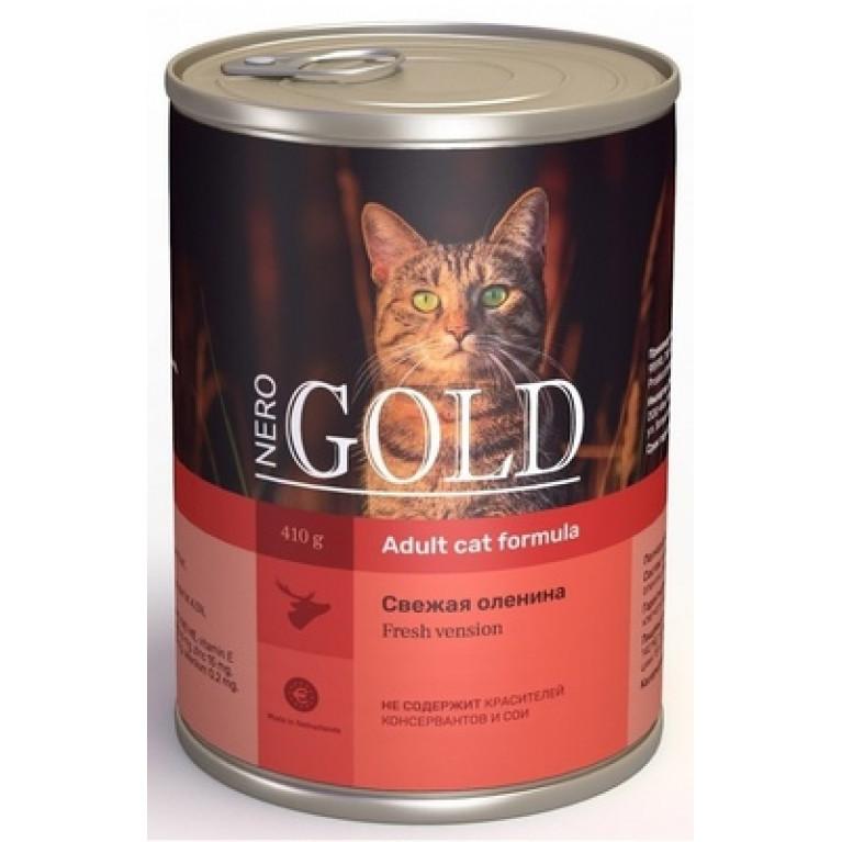 """Nero Gold консервы для кошек """"Свежая оленина"""" 410гр"""