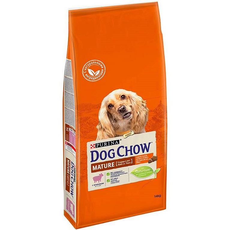Dog Chow Mature Adult Сухой корм для собак старше 5 лет (Ягненок) 14 кг