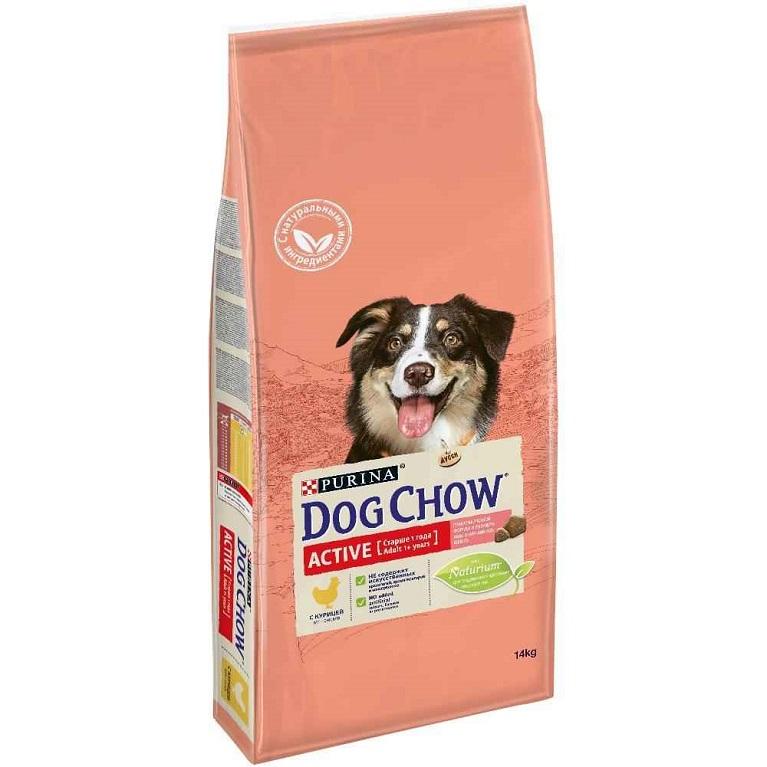 Dog Chow Active Сухой корм для активных собак старше 1 года (Курица) 14 кг
