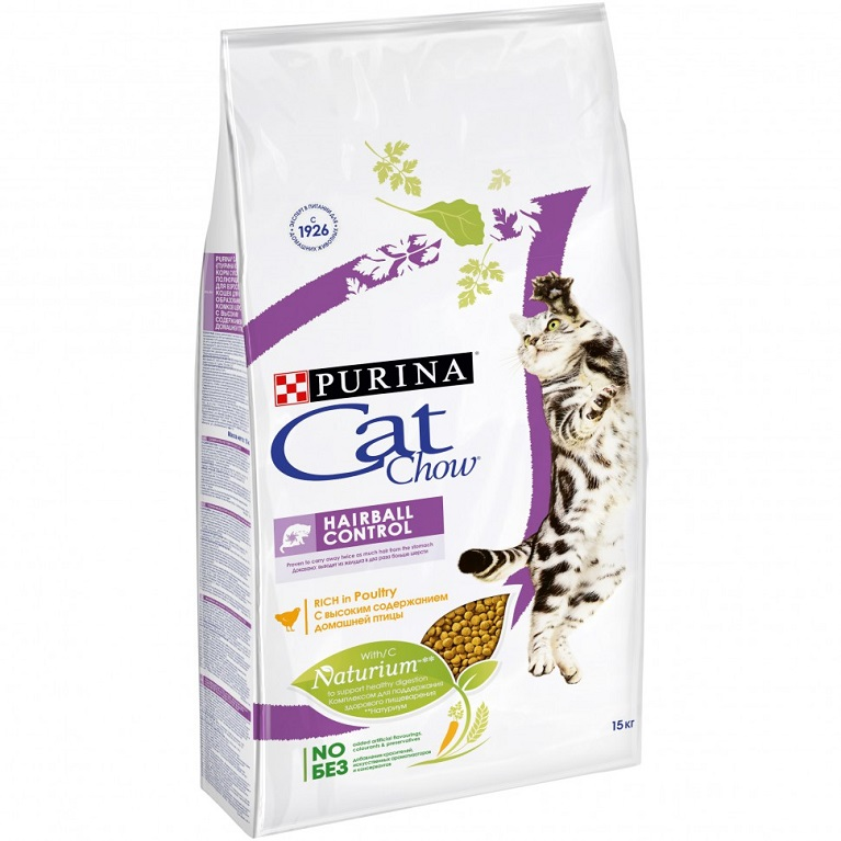 Cat Chow Special Care Hairball Control Корм для котов против образования комков шерсти