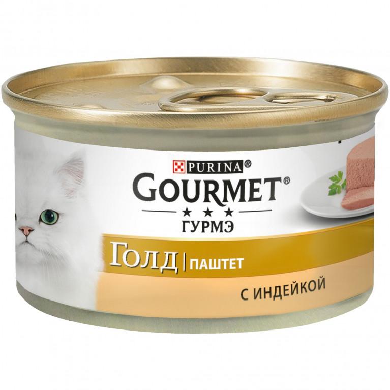 Gourmet Gold Консервы для кошек  (Индейка паштет) 85 гр.