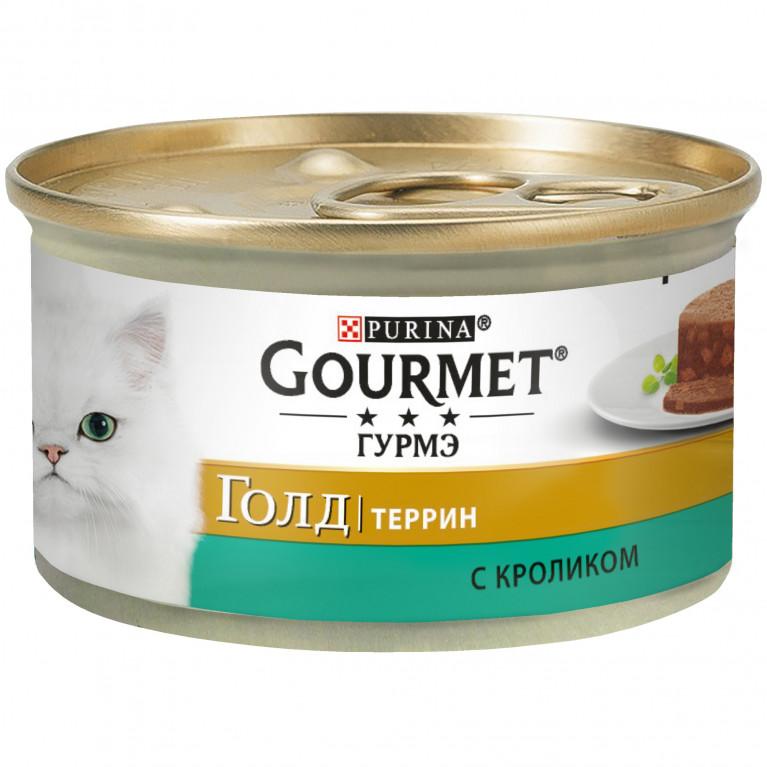 Gourmet Gold Консервы для кошек с Кроликом по-Французски Кусочки в Паштете