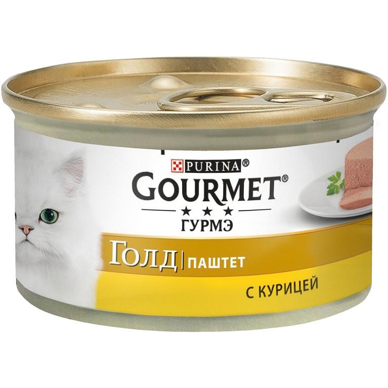 Gourmet Gold Консервы для кошек  (Курица паштет) 85 гр.