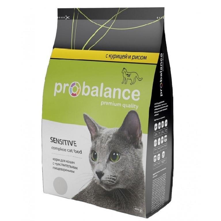 ProBalance Sensitive Для кошек с чувствительным пищеварением (курица рис)