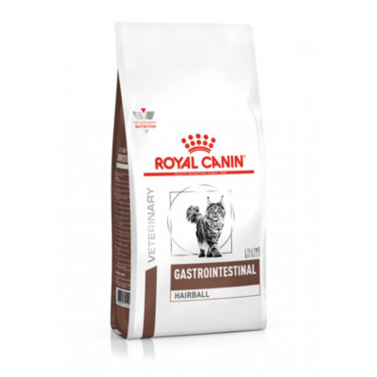 Royal Canin Gastrointestinal Hairball Сухой диетический корм для взрослых кошек при нарушениях пищеварения, вызванного наличием волосяных комочков.