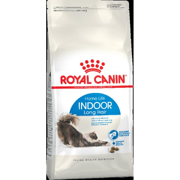 Royal Canin Indoor Long Hair/Сухой корм для длинношерстных кошек живущих в помещении
