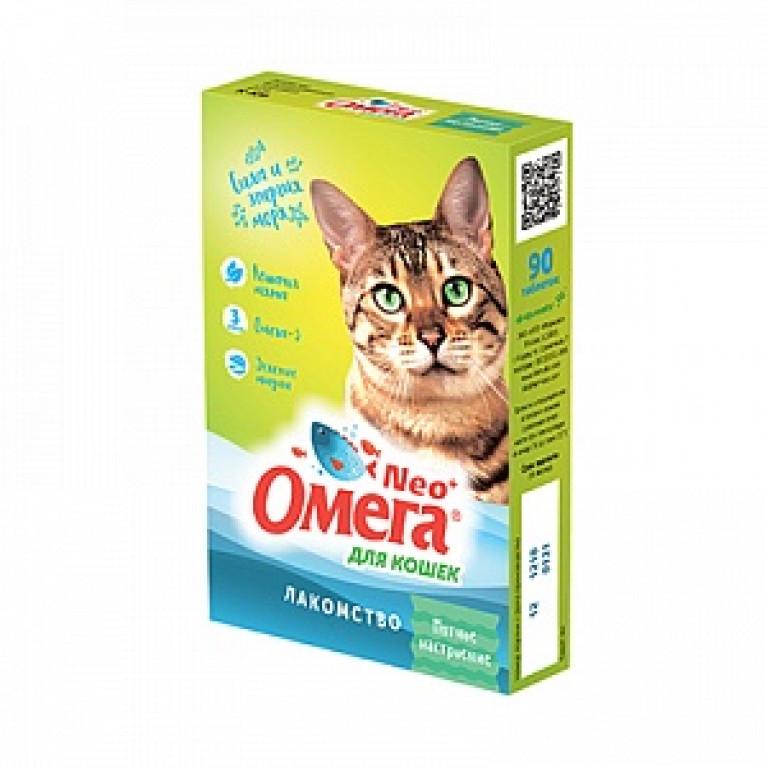 Омега Neo+ Лакомство Мятное настроение для кошек 90 таб.
