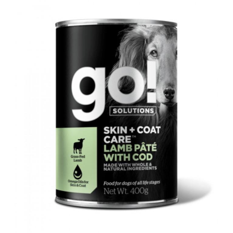 GO! Skin + Coat Lamb Pate with Cod DF Консервы для щенков собак с ягненком и треской 400г