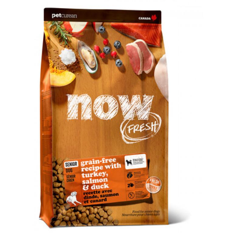Now Fresh Senior Recipe Grain Free Беззерновой корм для пожилых или с избыточным весом собак всех пород с индейкой, уткой и овощами