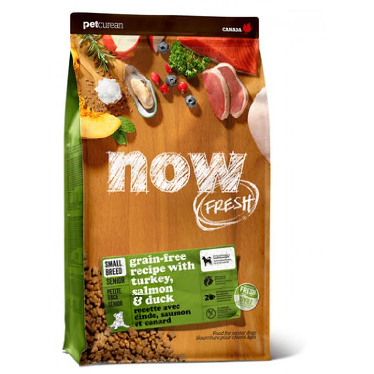 Now Fresh Small Breed Senior Recipe Grain Free Беззерновой корм для пожилых собак малых пород с индейкой, уткой и овощами