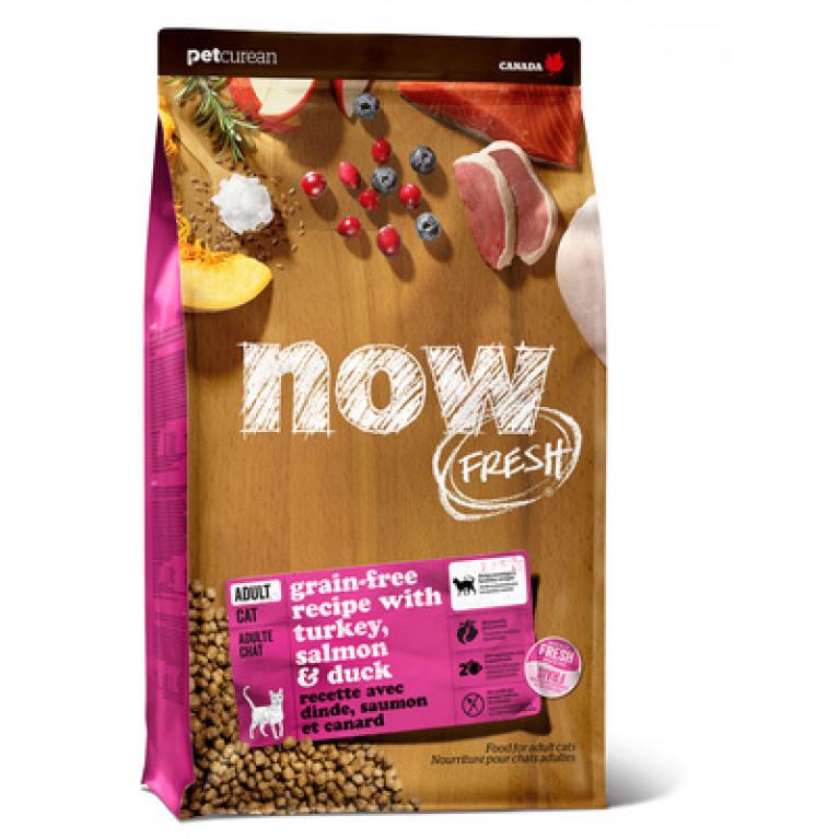 Now Fresh Grain Free Adult Cat Recipe Беззерновой корм для взрослых кошек с индейкой, уткой и овощами