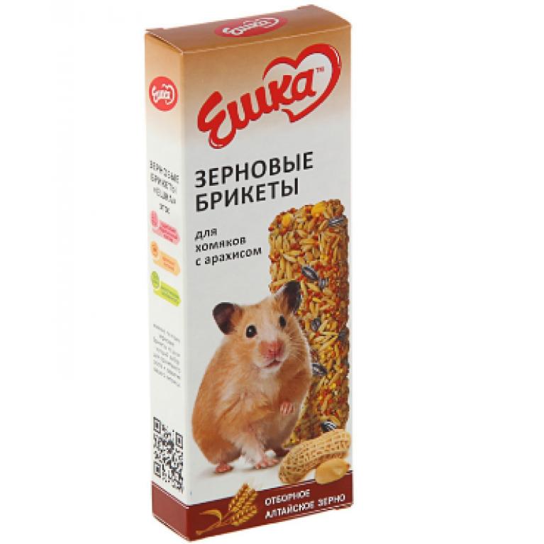 """""""Ешка"""" Зерновые брикеты для хомяков, с арахисом, 80 г"""