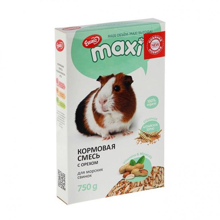 """""""Ешка MAXI"""" Кормовая смесь для морских свинок, с орехами, 750 г"""