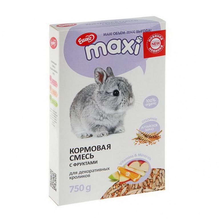 """""""Ешка MAXI"""" Кормовая смесь для декоративных кроликов, с фруктами, 750 г"""