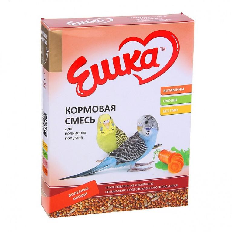 """""""Ешка"""" Кормовая смесь для волнистых попугаев, с полезными овощами, 500 г"""