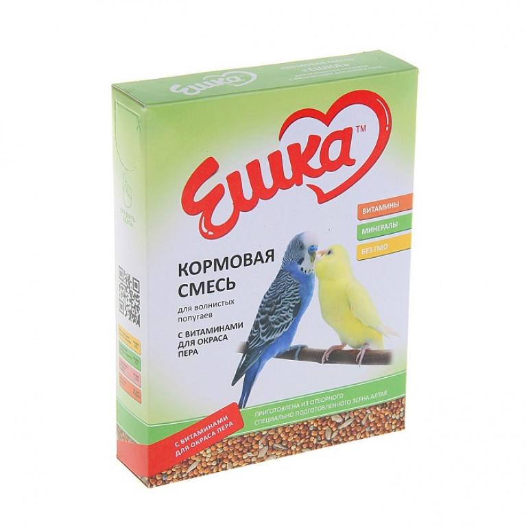 """""""Ешка"""" Кормовая смесь для волнистых попугаев, с витаминами для окраса пера, 500 г"""