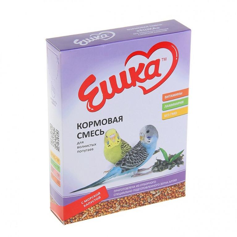 """""""Ешка"""" Кормовая смесь для волнистых попугаев, с морской капустой, 500 г"""