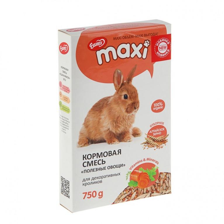 """""""Ешка MAXI"""" Кормовая смесь для декоративных кроликов, с овощами 750 г"""