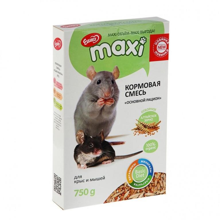 """""""Ешка MAXI"""" Кормовая смесь для крыс и мышей, 750 г"""