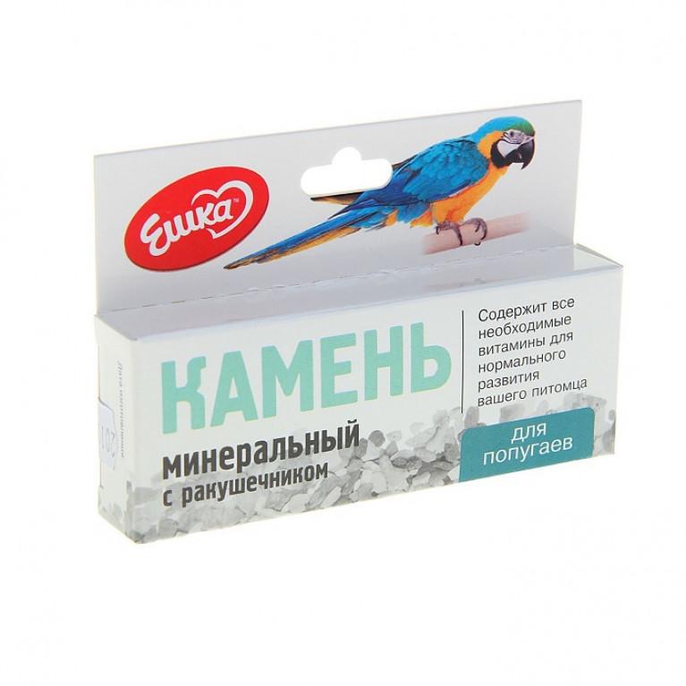 """""""Ешка"""" Камень минеральный для попугаев, с ракушечником, 40 г"""